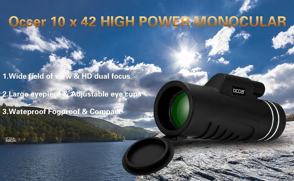 10x42 Hign power monocular