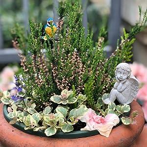 unique item Angel figurine \u0421eramic Angel/'s face mini planter for desk decor