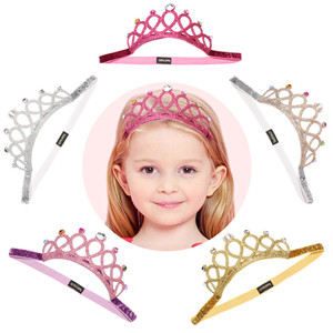 Newborn Baby Big Crown Girls Infant Toddler Headband Hair Band Headwear Tiara
