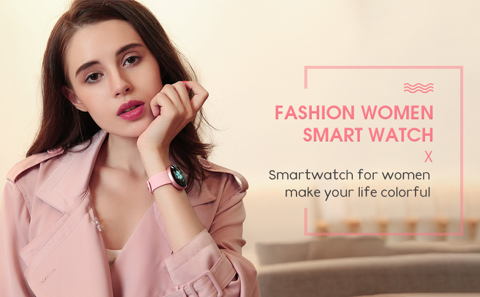 fc62dee4456e30 Its sleek design also reveals your good taste in fashion. This is a fashion- forward watch for fashionable women. smart watch