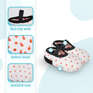 the grip socks with fabric material,the inner of this socks is cotton.the bottom with dot
