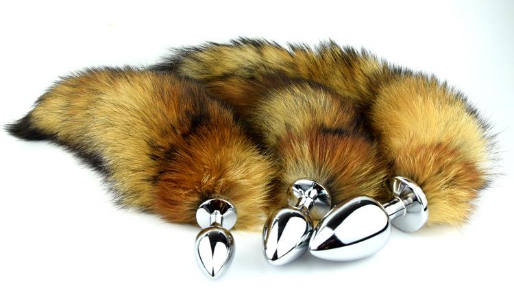 Amazoncom Nomisex Bigger Size Soft Wild Fox Tail -6182