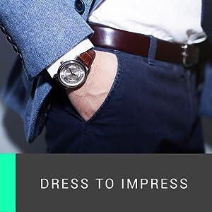 Marino Ratchet Click Belts for Men Mens Comfort Genuine Leather Dress Belt
