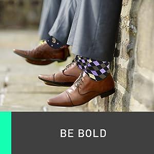 Marino Men's Fun Dress Socks - Colorful Funky Socks for Men - Cotton Fashion Patterned Socks 12 Pack