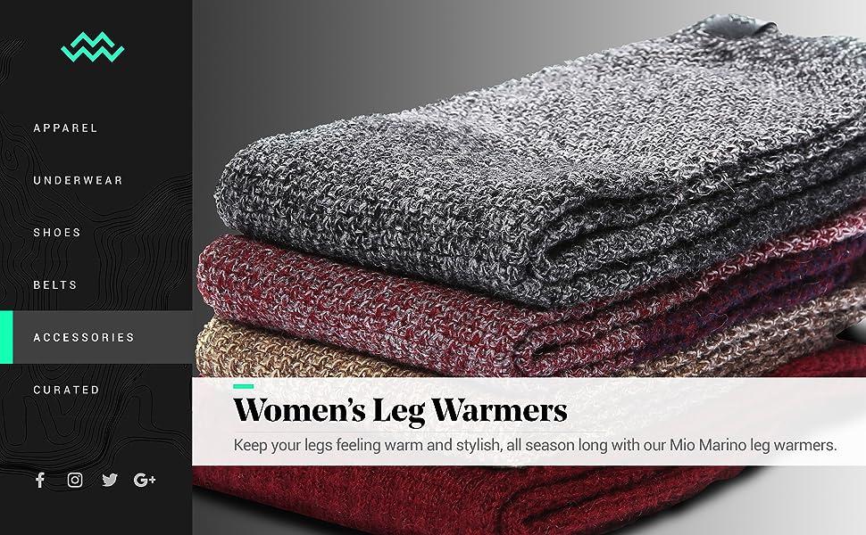 f9f818bff Marino Long Leg Warmers For Women - Winter Knee High Knit Leg Warmer Socks