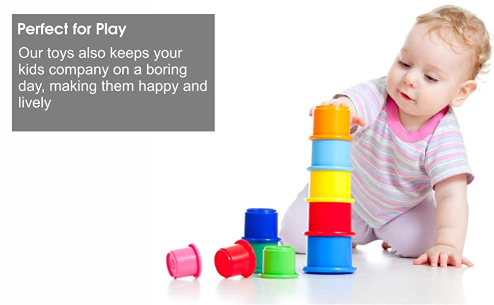 Happy baby fun toys stacking cups tiny toddler