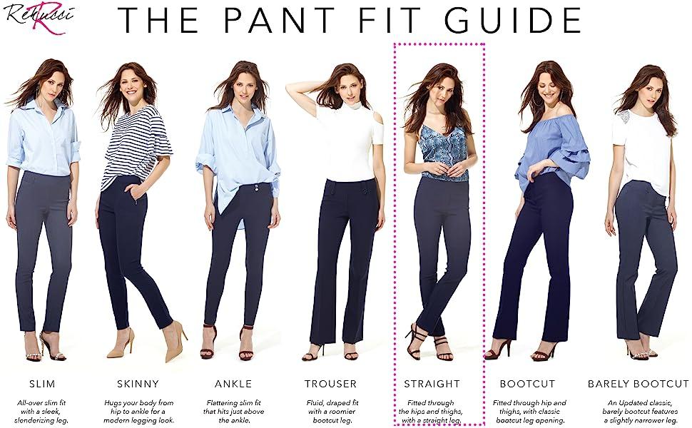 Rekucci Pant Fit Guide - Straight Leg Pant