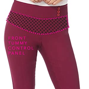 Straight Pant showing tummy control panel