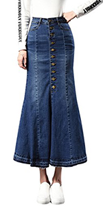 7492c97882 Yeokou Womens Midi Length Long Denim Jeans Jumpers Overall Pinafore Dress  Skirt · Yeokou Women's Side Split Stretch Denim Jean Bodycon Mini Short  Pencil ...