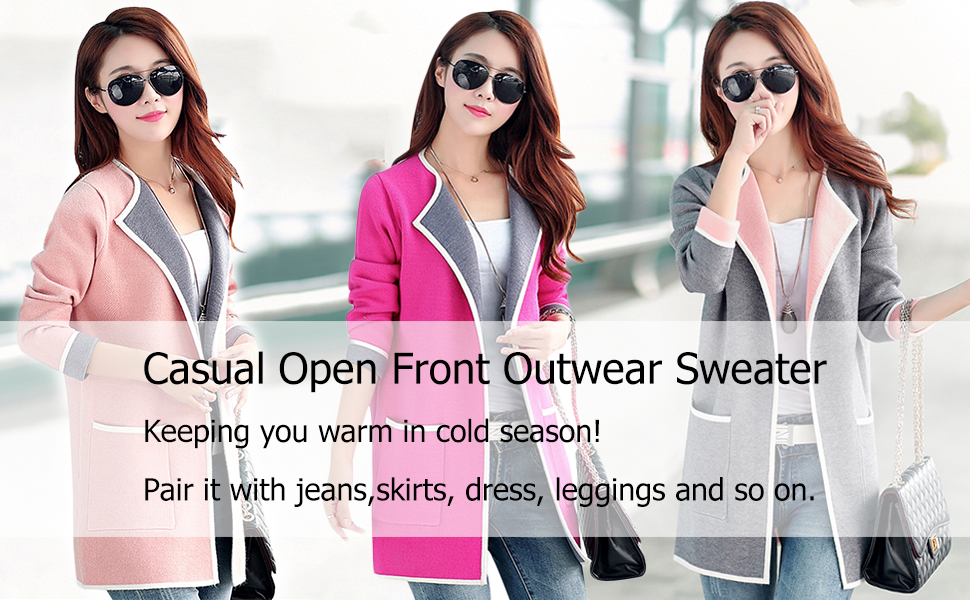 0dc98ba8b7 This casual lapel cardigan sweater is a great piece for your cooler weather  wardrobe. It is medium weight
