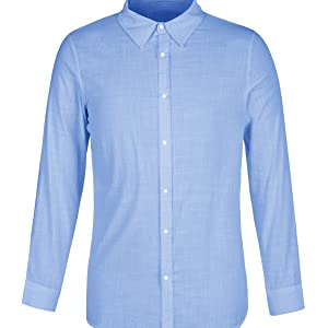 4a8501c3a13 Makkrom Mens Casual Loose Long Sleeve Shirts Button Up Linen Cotton ...