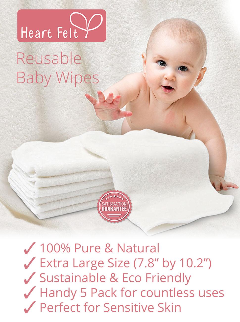 Amazon Com Heart Felt 100 Natural Baby Wipes 5 Extra