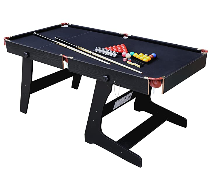 Amazoncom HLC Ft Folding Snooker Billiards Table With Snooker - Pool table description