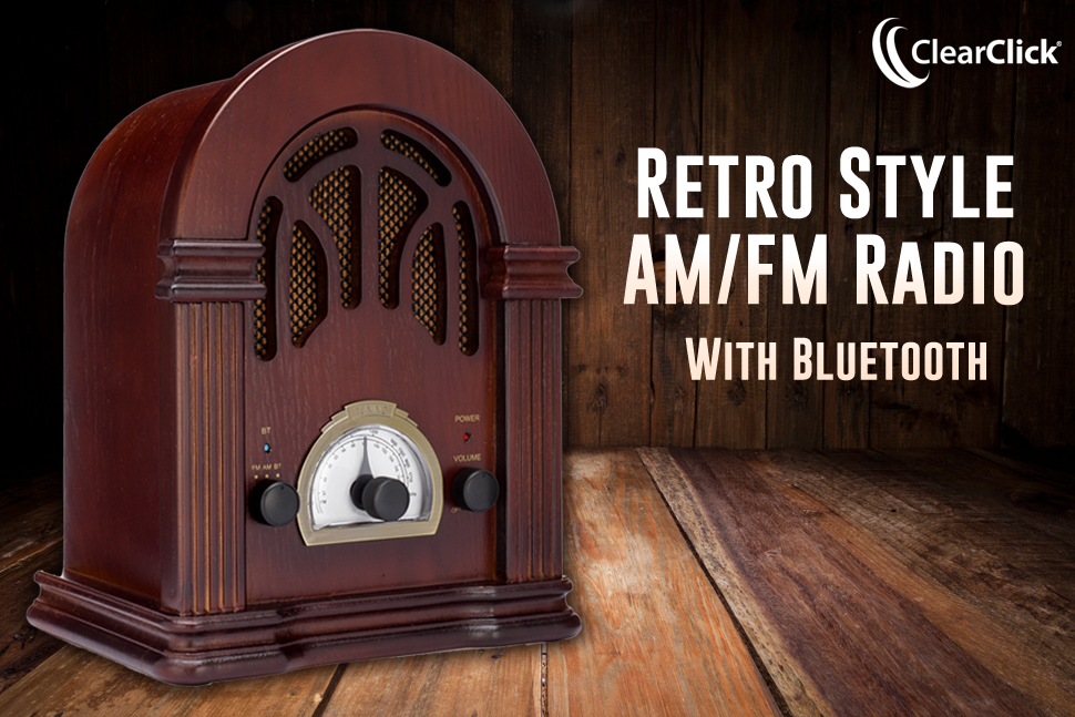 Clearclick retro am fm radio with bluetooth for Classic house radio