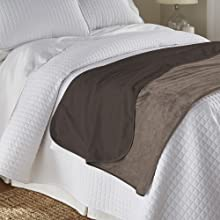Mambe Silky Throw on bed