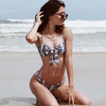 snake print bathing suit