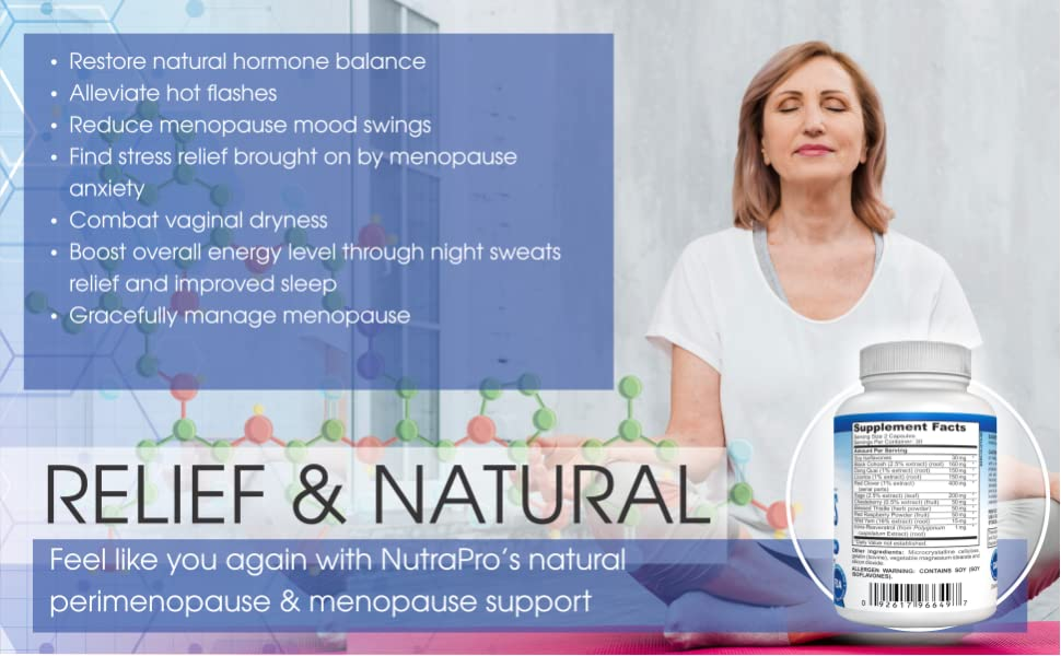 fedc5846d Amazon.com  Menopause Support and Relief. Supports Hot Flashes