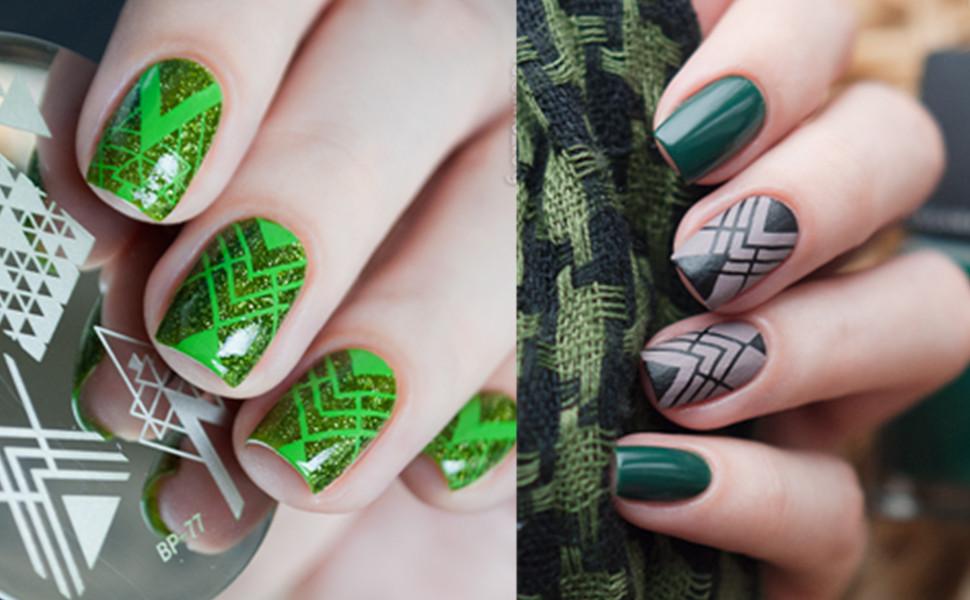 Amazon.com : Born Pretty Nail Stamping Plate Nail Art Image Plate ...