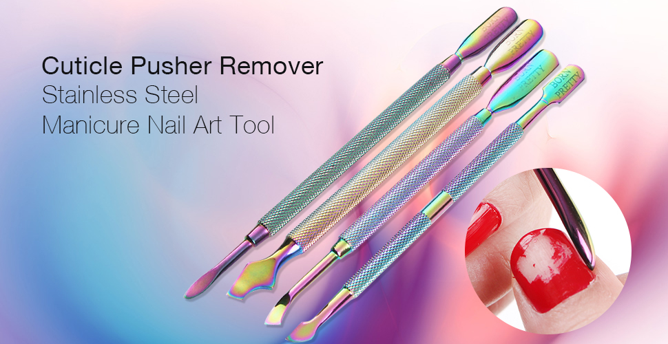 Amazon.com: Born Pretty Rainbow Cuticle Pusher, Stainless Steel ...