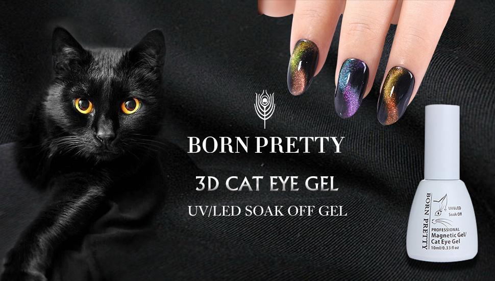 Amazon.com : BORN PRETTY Nail Art Cat Eye Nail Polish Chameleon ...