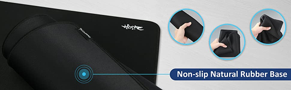 TECWARE Haste XXL Anti Slip Natural Rubber, High Density Surface, Water  Resistant Extended Gaming Mousemat