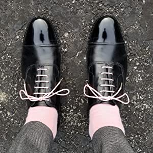 Pink Dress Shoeaces Mens Shoe Laces Strings colored colors whiskers brother waxed oxford round
