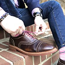 Colored Mens Dress Shoelaces