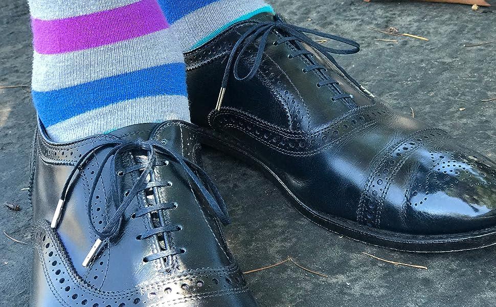 Flat Waxed Thin Dress Shoe Laces