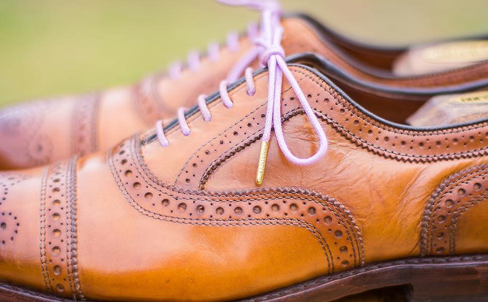 Purple Dress Shoelaces for Men