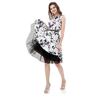 6066860facd2b Wowbridal Women s Vintage 50s Rockabilly Petticoat 27″ Length Tutu ...