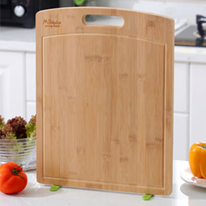 17.2 X 13.2 Inch//FDA Approved Large Bamboo Cutting Board Vertical Anti-mildew 100/% Natural Bamboo Cutting Board Butcher Block for Chopping Meat and Vegetables Large Cutting Board for Kitchen with stand Easy-dry