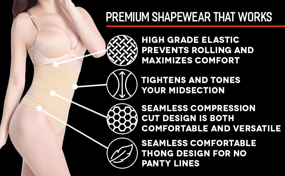 spanks underwear waist cincher thong tummy compression thong high waste shaping panty nude thong