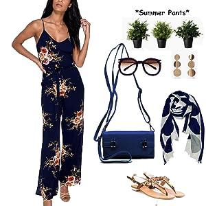 93f32fe98ecd Kinikiss Floral Print Jumpsuit Off Shoulder Halter High Waist Casual  Playsuit