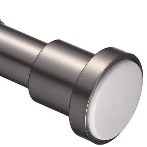 Curtain Rod Chrome Matt 2-provisional 2,5 M Garesa Basket incl Accessories 433
