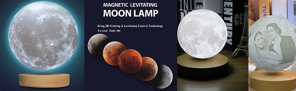 levitating moon lamp,levitating light, moon lamp,moon night light