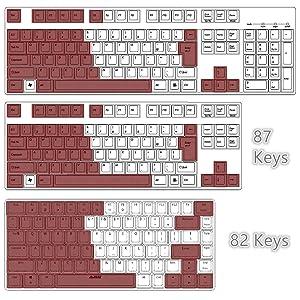 Unique 82 Keys Layout Design