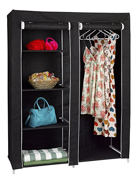 The Florida Brands Large Portable Wardrobe Closet Organizer With 4 Shelves  And 1 Hanging Rack Should Provide Enough Room For Your Pants, Jackets,  Shoes, ...