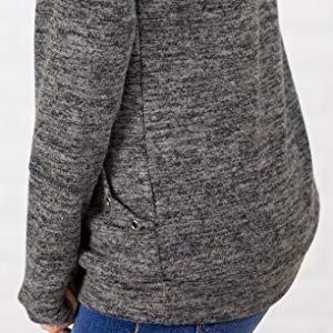 b1f56fd44cfdfa Unidear Womens Casual Long Sleeve Cozy High Neck Solid Sweatshirt ...