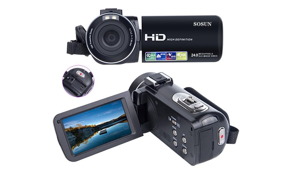 Video Camera Camcorder SOSUN HD 1080P 240MP 30 Inch LCD