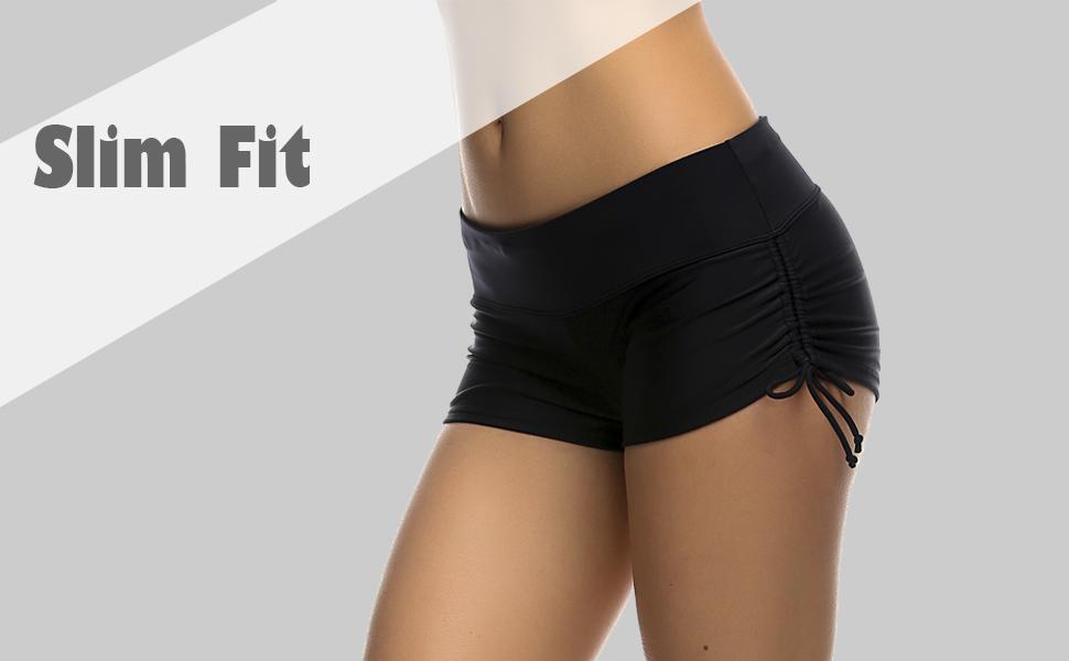 ac0bf7aae6e Amazon.com   DUSISHIDAN Women s Swim Shorts with Side Ties   Sports ...