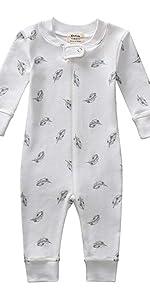 footless baby pajamas; newborn baby pajamas