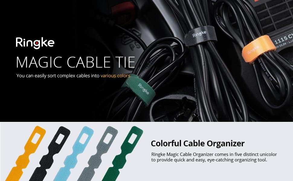 Ringke Magic Tie - curelele de prindere cu arici velcro pentru cabluri de date