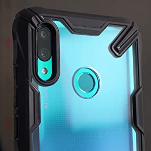 Ringke Fusion-X Compatible with Huawei P Smart 2019 Case, Built in Dot Matrix Rear PC Anti-Cling Renovated Bumper Military Drop Tested Defense Double ...