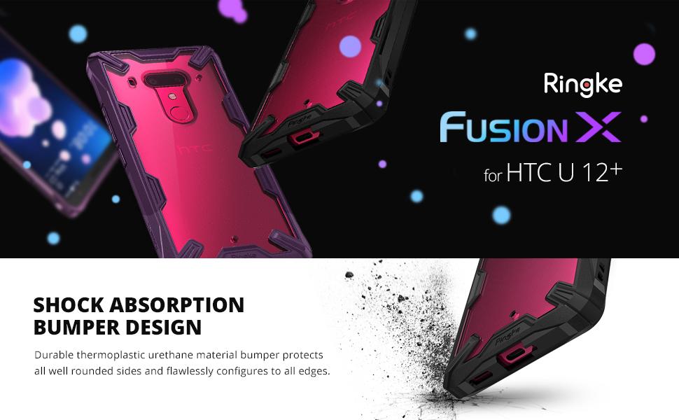 husa Ringke Fusion X pentru HTC U12 Plus 2018