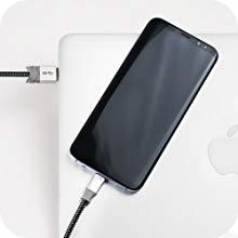 Ringke 8 Pin Lightning Braided Nylon Cable Lightning to USB A Port