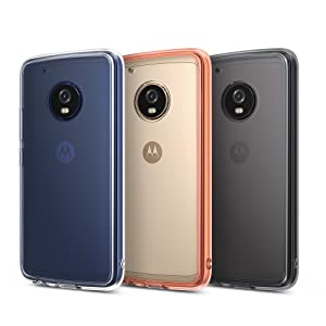 Ringke Fusion Compatible with Motorola Moto G5 Plus Case Crystal Clear PC Back TPU Bumper Case Drop Protection, Shock Absorption Technology - Rose ...