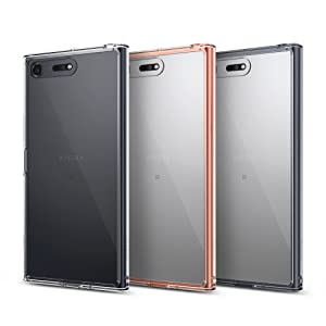 Ringke Fusion Compatible with Sony Xperia XZ Premium Phone Case, Crystal Clear PC Back TPU Bumper Drop Protection Shock Absorption Technology Raised ...