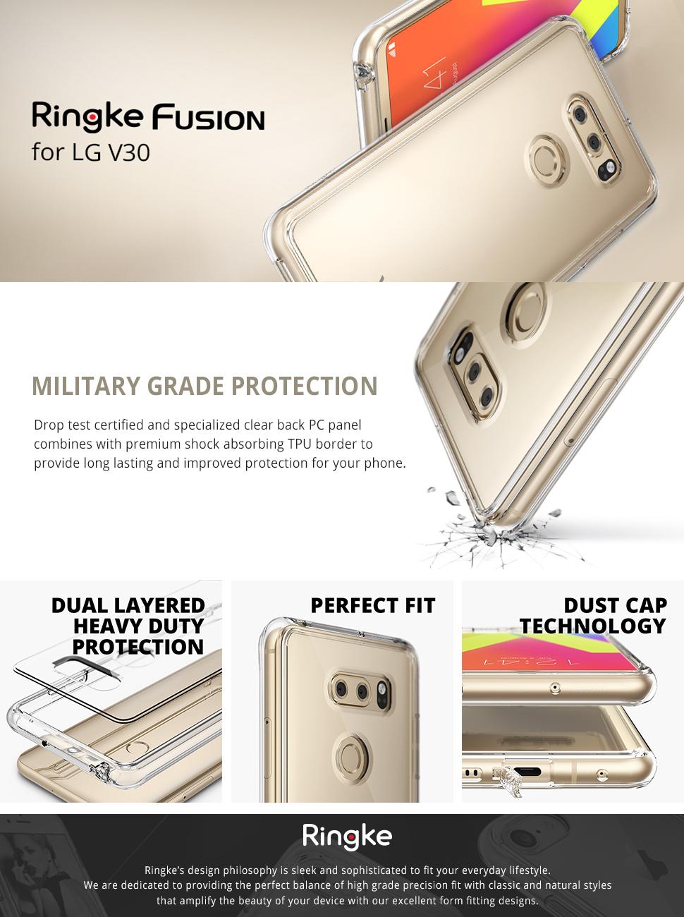 Huse Ringke Fusion pentru LG V30
