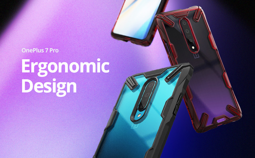 Ringke Fusion-X Designed for OnePlus 7 Pro Case Impact Resistant Protection Cover for OnePlus 7 Pro