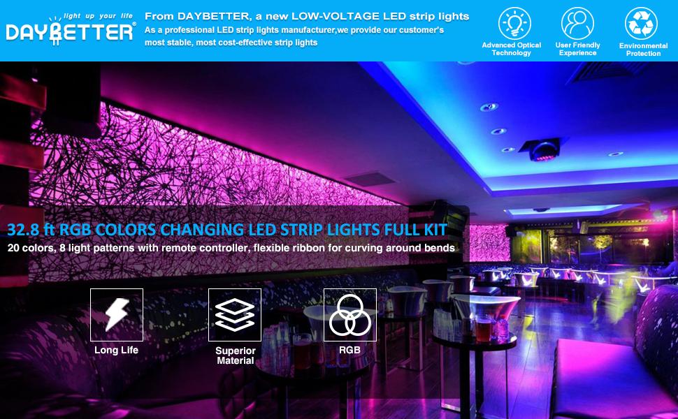 Amazon Com Led Strip Light Waterproof 600leds 32 8ft 10m